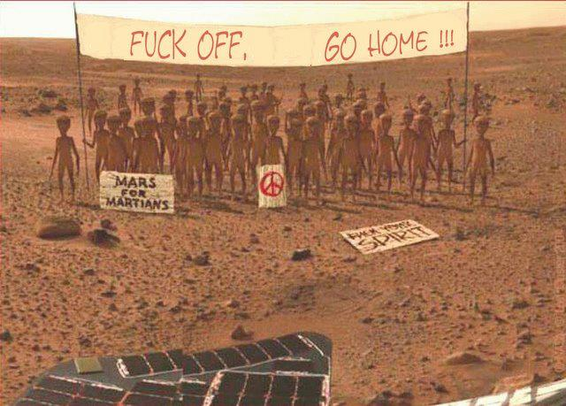 Martians say NO