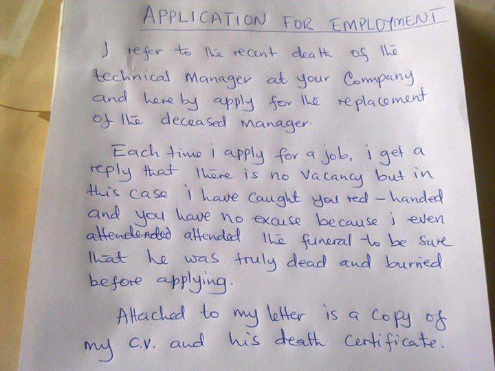 RoF job application