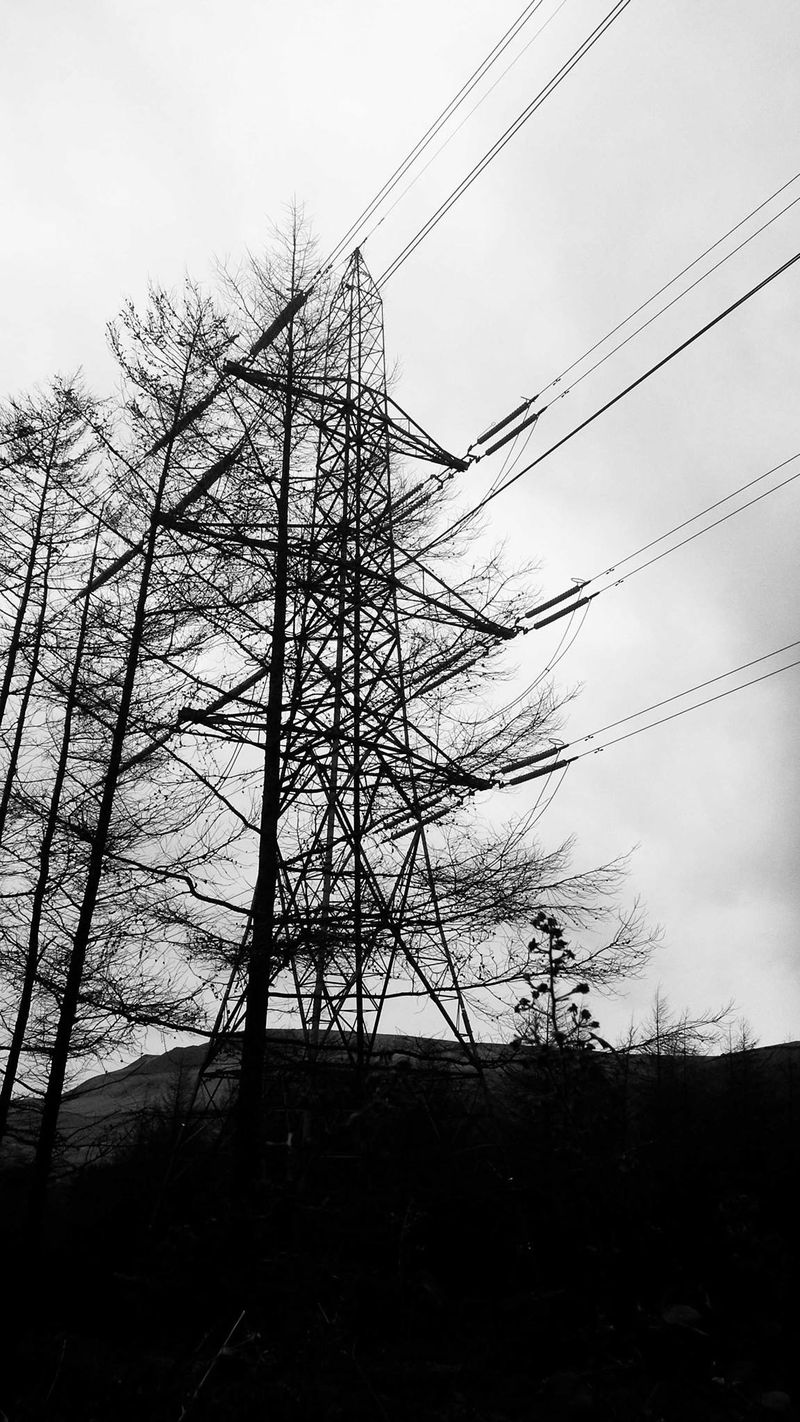 Pylons in the Peaks by Harry Wade